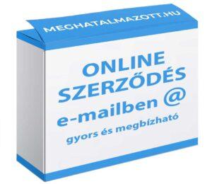 online szerződés emailben